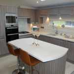 Luxury holiday home lodge kitchen area