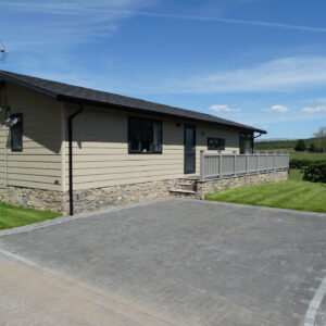 Paved driveway at Moss Bank Lodges