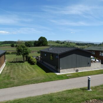 View from plot at Moss Bank Lodges