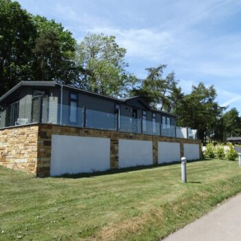 Executive holiday homes on elevated plot