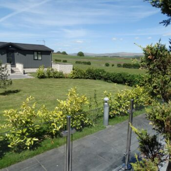 View across countryside from Moss Bank Lodges