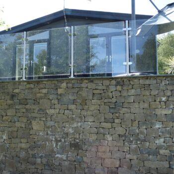 Moss Bank Lodges stone walls