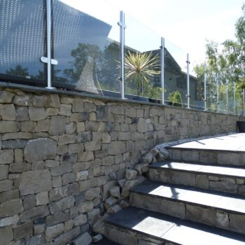 Moss Bank Lodges stone staircase