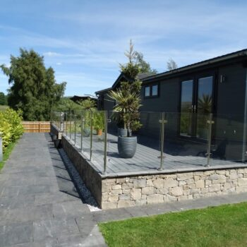 Moss Bank Lodges slate paths and decking